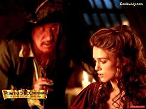Обои Пираты Карибского моря Пираты Карибского моря Проклятие черной жемчужины Джеффри Раш Фильмы