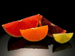 Картинки Фрукты Цитрусовые Грейпфрут