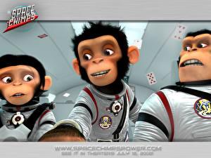 Обои Мартышки в космосе Мультики